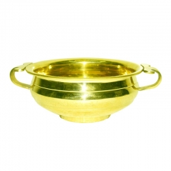 Brass Decorative Flower Urli Bowl / Uruli Pot