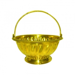 Brass Flower Basket for Pooja