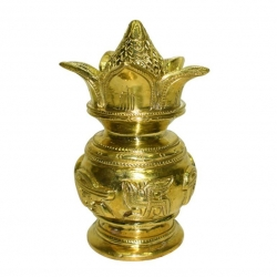 Brass Kumbha Kalash for Home Puja
