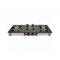 Vidiem Air Pride 3 Burner Glass Top Gas Stove
