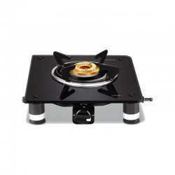 Vidiem Air Silver Single Burner Glass Top Gas Stove