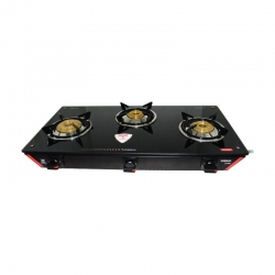 Vidiem Viva 3 Burner Glass Top Gas Stove