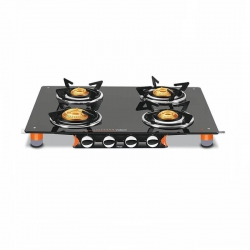 Vidiem Air Pride 4 Burner Glass Top Gas Stove