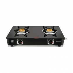 Vidiem Edge Shine 2 Burner Glass Top Gas Stove