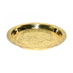 Multipurpose Bronze Plate / Vengalam Plate Embossed Design