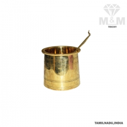 Brass Traditional Pooja Panchapathiram Uthirani Set