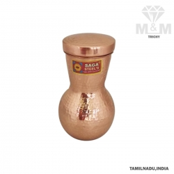 Copper Water Bottle / Matka Jar Hammered Finish
