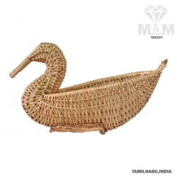 Handicrafts Eco Friendly Creative Duck Shape Bamboo Basket