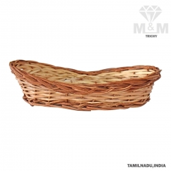 Handicrafts Eco Friendly Oval Woven Wicker Cane Bamboo Basket