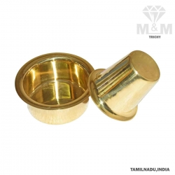 Brass Kumbakonam Traditional Coffee Davara Set with Dabara