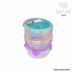 Alltime Round Shape Lock & Safe Container Set of 3 Pcs (3 x 200 ml)