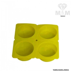 4 Cavity Silicone Bakeware Round Cylindrical Cake Mould