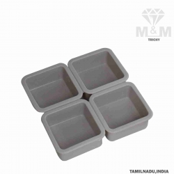 4 Cavity Silicone Bakeware Square Cake Mould