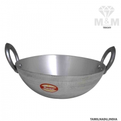 Aluminium Deep Kadai Matt Finish with Handle