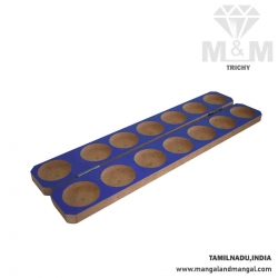 Traditional MDF Wooden Foldable Pallanguzhi / Alaguli Mane / Channel Mane / Palanguzhi / Vamana Guntalu / Mankala Game