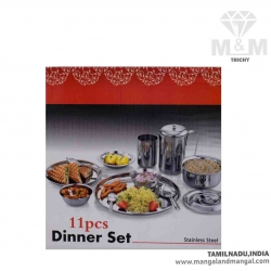 Stainless Steel Dinner Set - 11 Pcs