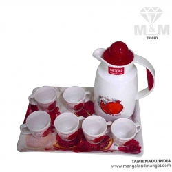 Milton Vienna Tea Server Set of 8 Pcs - Pomegranate