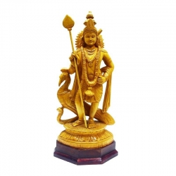 Wooden Lord Murugan Gift Article
