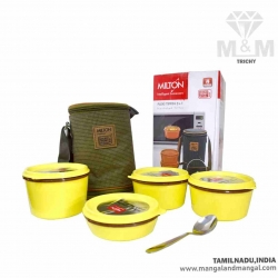 Milton Flexi Insulated Inner Stainless Steel Lunch Box with Expandable Bag and Spoon (3+1)