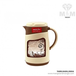 Milton Viva Tuff 1000 Thermoware Hot & Cold Inner Stainless Steel Jug, 1 Litre Brown, Ivory