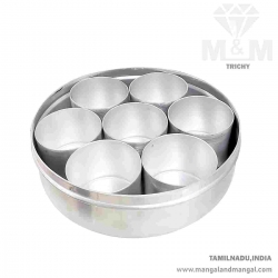 Aluminium Traditional Indian Anjaraipetti Container / Aluminium Aroma Masala Dabba / Masala Box / Spices Box