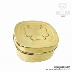 Brass Multipurpose Container Box / Small Square Brass Dabba / Dabbi / Storage Box