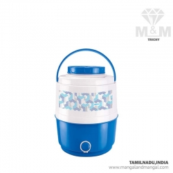Milton Thermoware Kool Musafir Insulated Plastic Water Jug, 10 Litres, Blue, Red, Purple, Brown