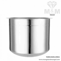 Crown Stainless Steel Adukku Pot - Mini Size / Ever Silver Poni / Multipurpose Use Container Pot