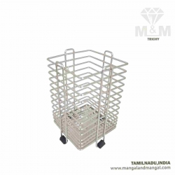 Square Shape Stainless Steel Cutlery Stand / Cutlery Holder / Spoon Stand
