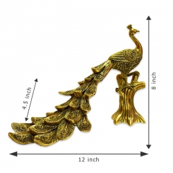 Brass Peacock Statue (Antique Style)