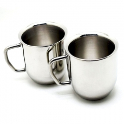 Double Wall Cappuccino Mugs - Set Of 2