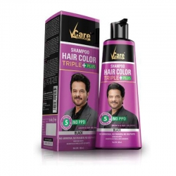 Vcare Shampoo Hair Color Black 180 ml