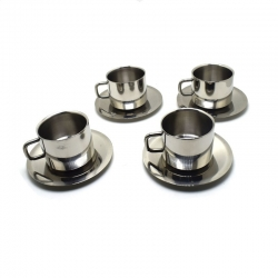 Komal Double Wall Cup & Saucer Set of 4