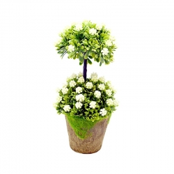 Artificial Beautiful White Flowers with Pot