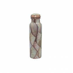Glossy Printed Copper Water Bottle