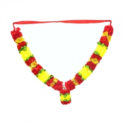 Decorative Handmade Artificial Jasmine and Rose Garland (Maalai)